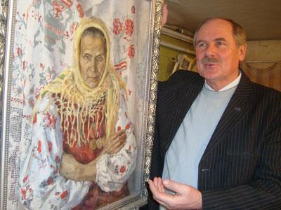 Художник у одной из лучших своих работ - портрета матери.