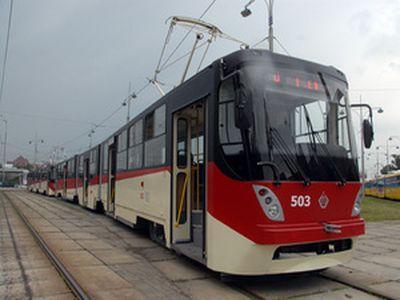 В первый рейс по Киеву отправились трамваи столичного производства