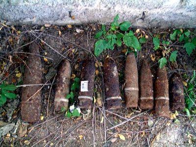 Спасатели МЧС уничтожили десять боеприпасов