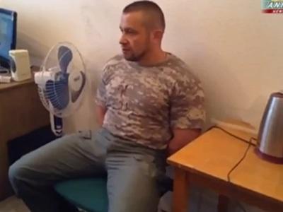 Под Луганском захвачен в плен командир спецназа МВД (ВИДЕО)
