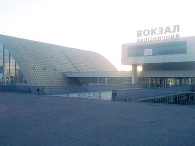 Луганский железнодорожный вокзал почти полностью прекратил работу. Пустота