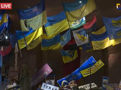 В Национальном музее истории Украины во Второй мировой войне открыли выставку флагов, привезенных из АТО