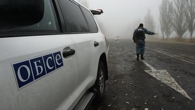 Обстрелян автомобиль ОБСЕ