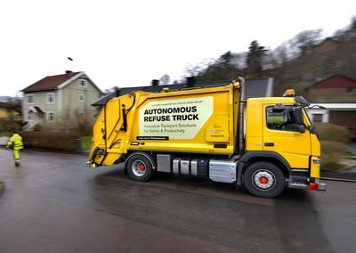В Швеции начались испытания мусоровозов-беспилотников (ВИДЕО)
