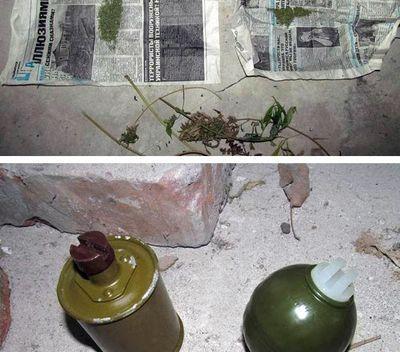 В Славянске задержали наркомана с гранатами