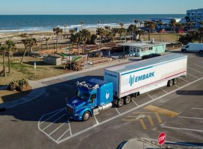 Беспилотный грузовик пересек США