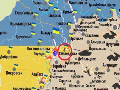 Штаб АТО заявил, что на Светлодарской дуге ударила артиллерия