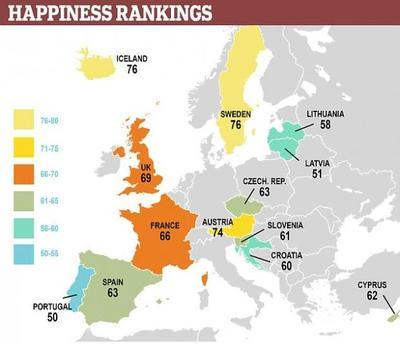 Ученые назвали самые счастливые страны Европы
