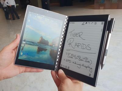 Intel представила безклавиатурный ноутбук с двумя экранами (ВИДЕО)