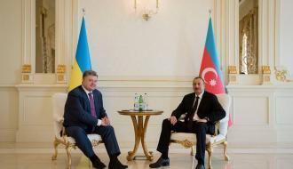 Петр Порошенко провел переговоры с Президентом Азербайджана