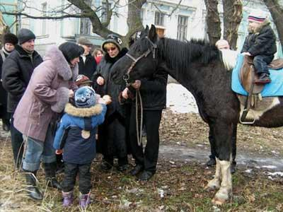 Чтобы лошадь тронулась с места, угости-ка ее блинчиком!
