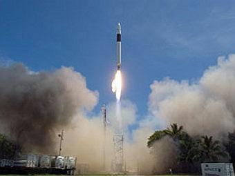 Старт ракеты Falcon 1.