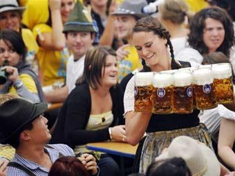 Фестиваль пива в Мюнхене.
